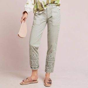 Anthropologie The Wanderer Eyelet Utility Pants